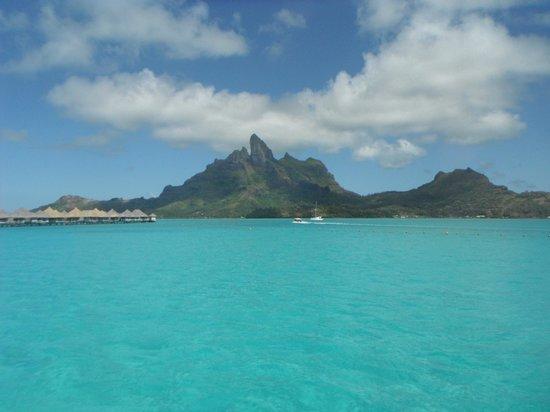 The St. Regis Bora Bora Resort: View from our villa #222