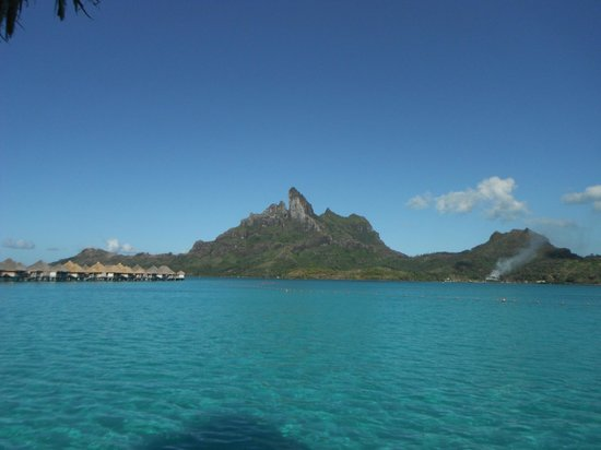 The St. Regis Bora Bora Resort: Morning view from our villa #222
