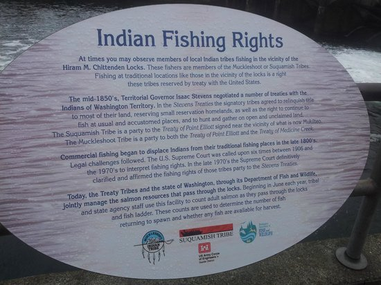 Hiram M. Chittenden Locks: indian fishing rights