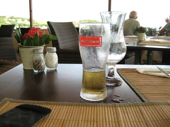 Bequia Beach Hotel: The locasl beer