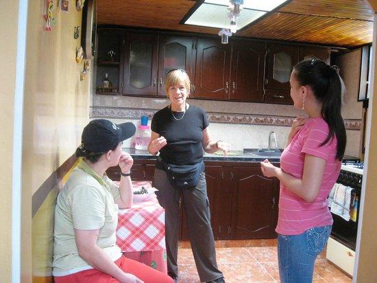 Posada Martha Tolima: Socializing with the staff.