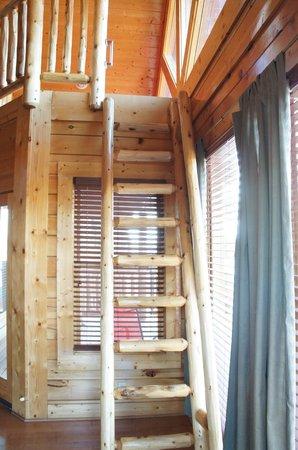 Legacy Mountain Resort: Ladder to sleeping loft