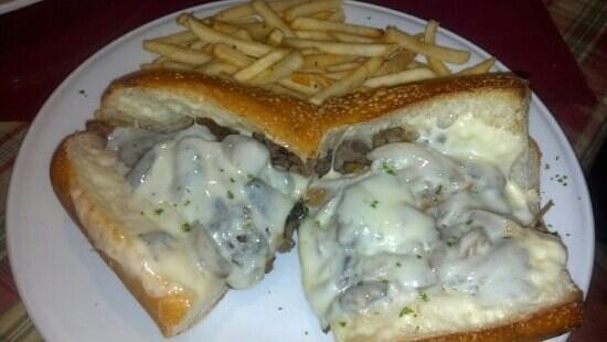 Italian Grill : Overstuffed a cheesesteak sub