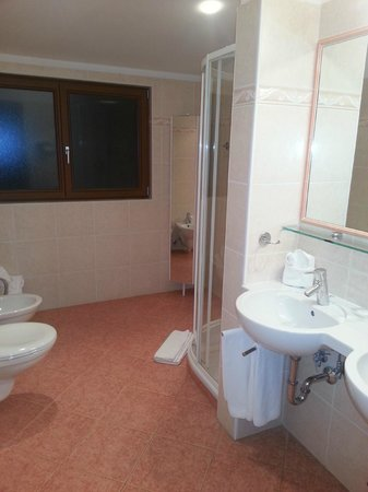 Hotel Muehlbacherhof: Lo spaziosissimo bagno