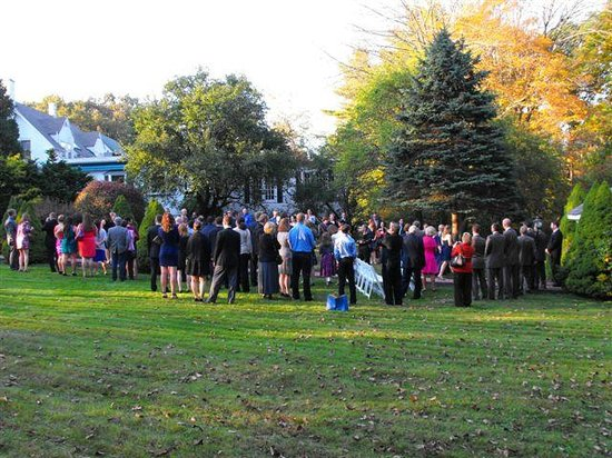 Outside Gathering Crowd For The Haber Wedding On Grounds Of Clay Hill Farms