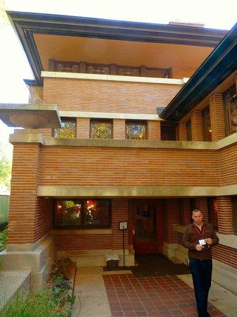 Hidden Main Entrance, NW Woodlawn Ave Facade, Robie House, Frank Lloyd  Wright,