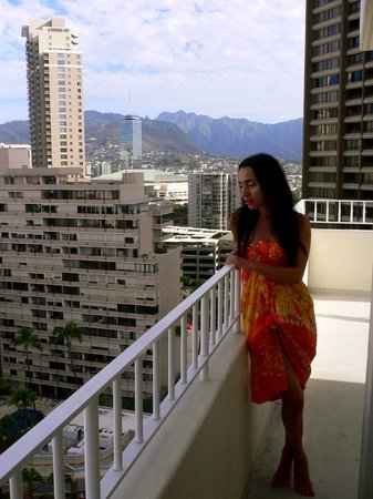 The Modern Honolulu: View from the 17th floor - top floor!