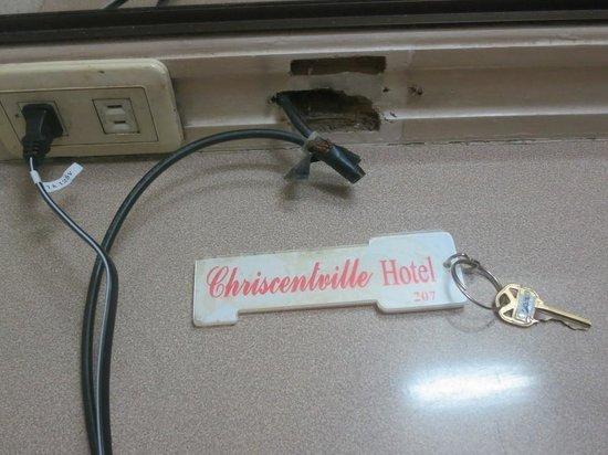 Chriscentville Hotel: dangerous wires