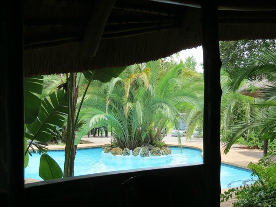 Malala Lodge: Pool from the bar area