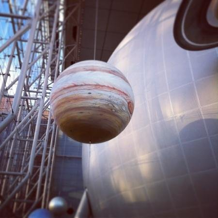 Rose Center for Earth and Space: model of solar system