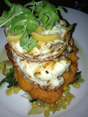 Lemon Cafe: Lobster Tail with Sweet Potato Puree