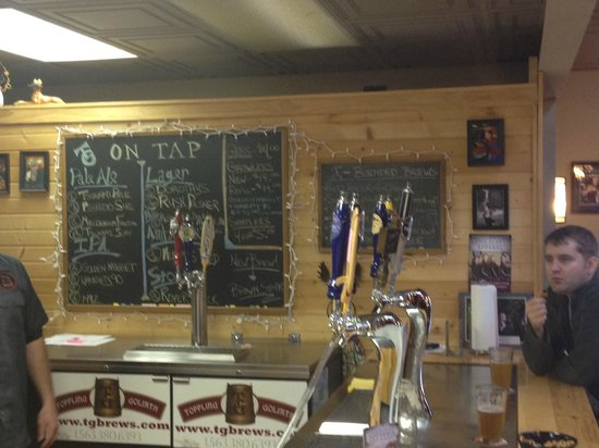 Toppling Goliath Brewing Company: Taps and board