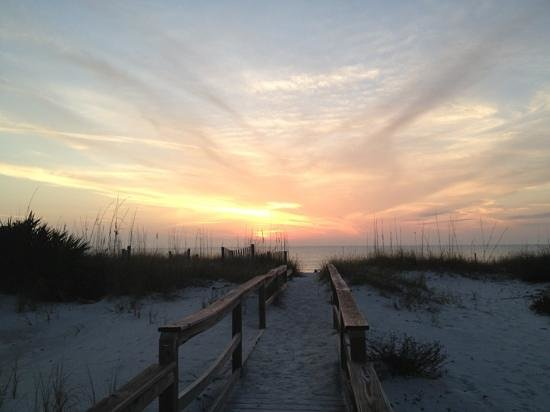 Cape San Blas Inn: sunset from the private path to the beach