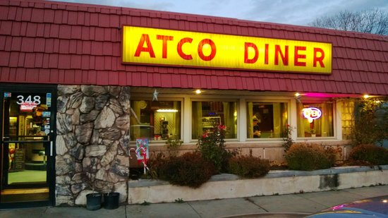 Atco Diner:                   No frills outside