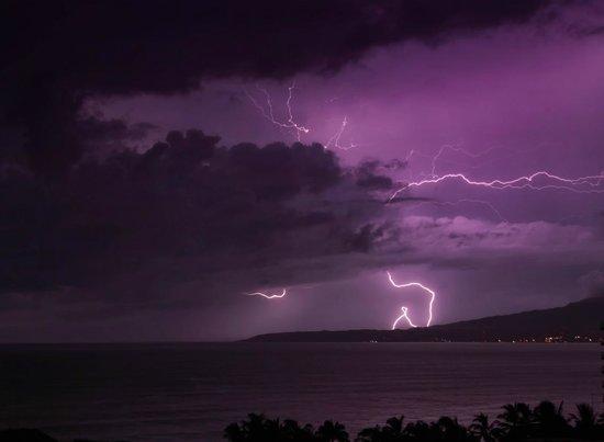 Dreams Villamagna Nuevo Vallarta: 8th floor view.. ocean storm