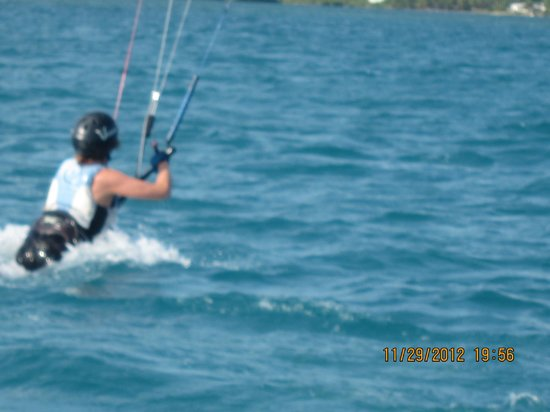 40Knots Kitesurfing & Windsurfing School Antigua: bodydrag - the best part!