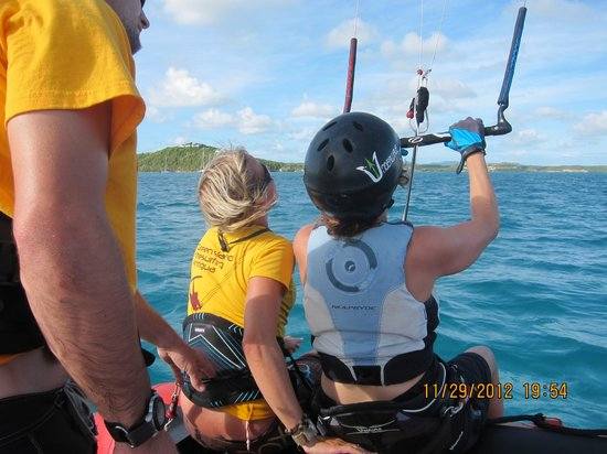 40Knots Kitesurfing & Windsurfing School Antigua: It's flying!