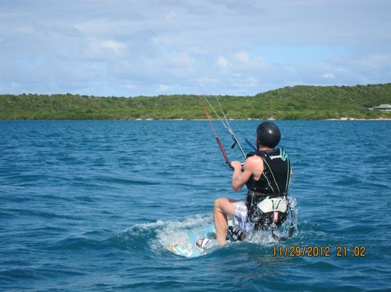40Knots Kitesurfing & Windsurfing School Antigua: and he's rolling!
