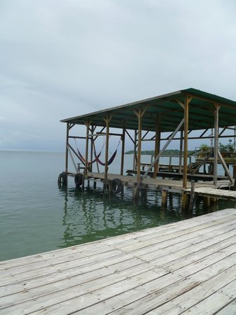 Cocomo on the Sea: The dock at the Cocomo...two hammocks to relax in and where water taxis will pick you up.