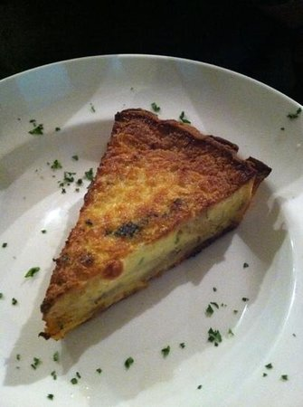 Cafe Bruges: crab potato and caramelized onion quiche