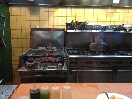 Primo Grill : From the Cook Line Seating - Wood Grill!