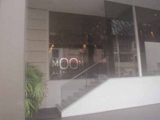 Moon 23 Hotel: Front of Hotel, sorry my camera fogged up from humidity!