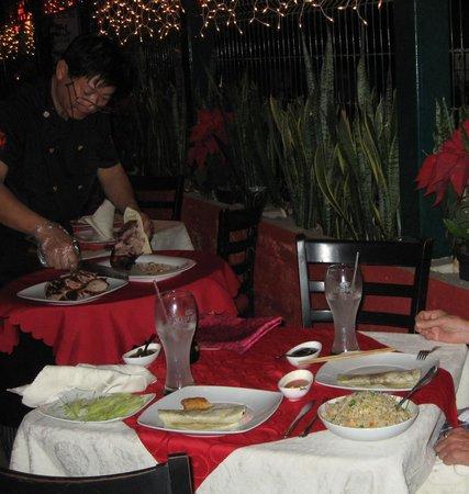 Peking: duck dinner w/combo fried rice