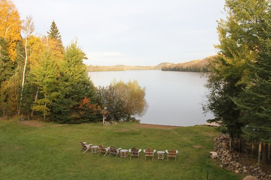 Hungry Jack Lodge & Campground: view from the deck of the lodge