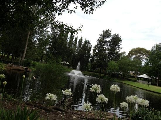 Crowne Plaza Hawkesbury Valley: the pond and fountain