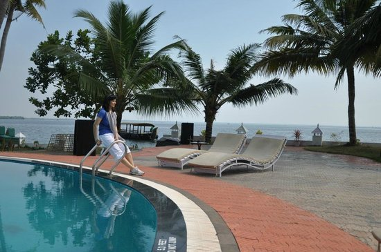The World Backwaters: Lake view from swimming pool