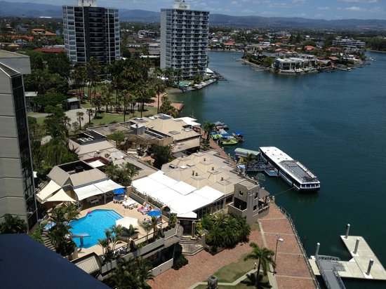 Moorings on Cavill Avenue: View from balcony