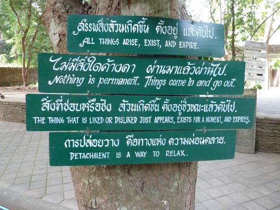 Wat Umong: A little of Buddhism wisdom.