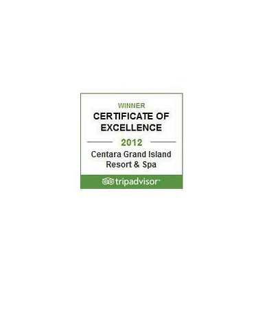 Centara Grand Island Resort & Spa Maldives: Winner Certificate of Excellence 2012 by TripAdvisor