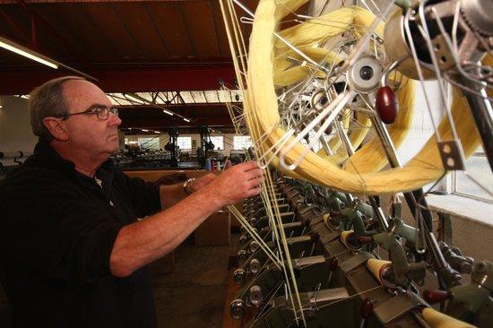 Trefriw Woollen Mills: cone winding