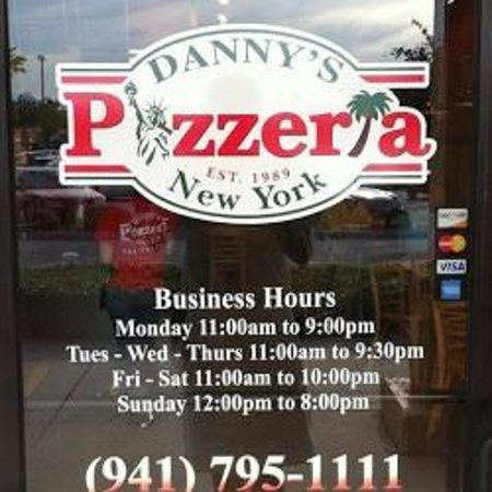 Danny's Pizzeria: Business hours and Phone # as of 12/18/12