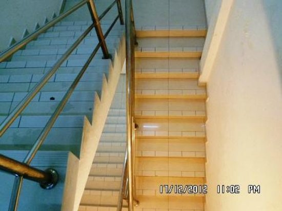 My City Hotel: The stairs were covered with fine dust particles which poses risk, especially going down
