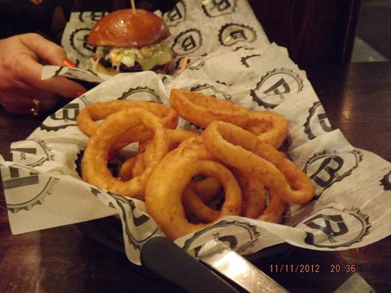 B Spot Burgers: Fat Doug and Onion Rings