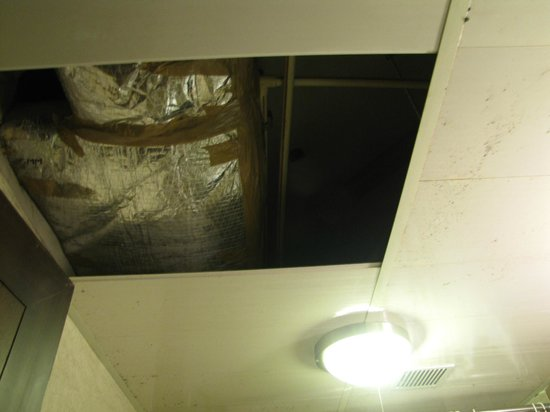 Ascot Hotels : The ceiling of the Bathroom was uncovered