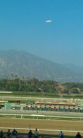 Santa Anita Race Park: From the Grandstand, across the track to the mountains.