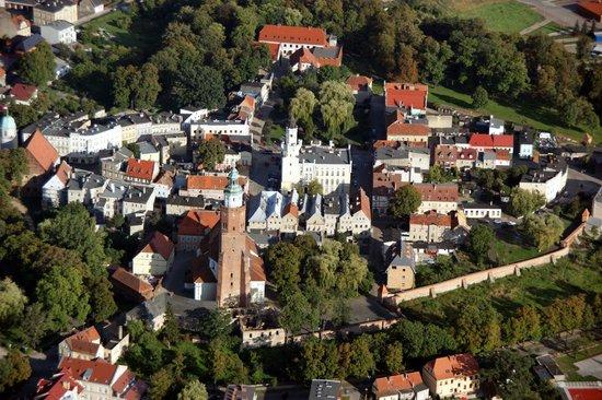 Zamek Krolewski: Stare Miasto z lotu ptaka
