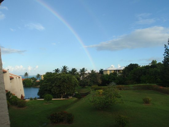 Mill Harbour Beach Resort: View of the grounds and lagoon from my balcony
