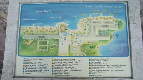 Photo of hotel map on grounds Presidente InterContinental Cozumel