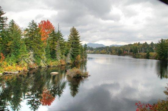 View from the train - Adirondack Scenic Railroad