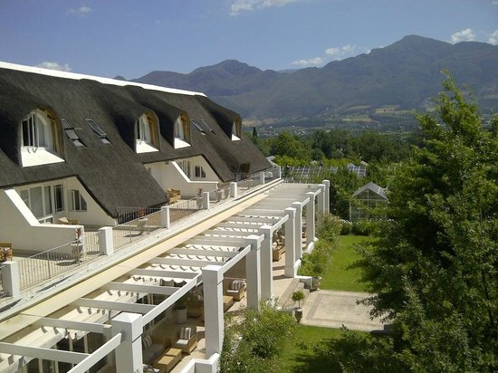 Le Franschhoek Hotel & Spa: view from loft room