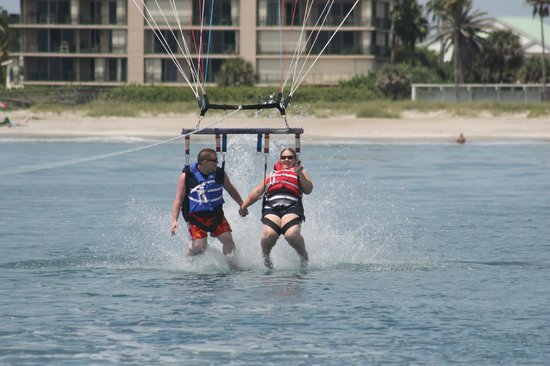 Cocoa Beach Parasail : They always dip ya on the way down!