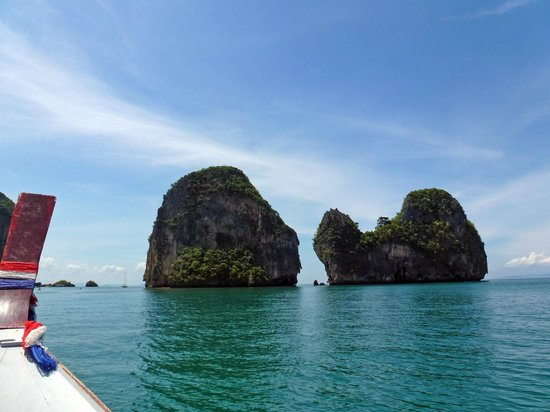 Phra Nang Beach: on the boat to the beach