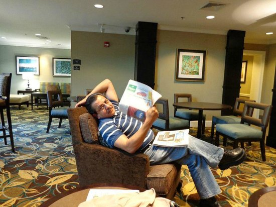 Staybridge Suites Peoria Downtown: PJStar and USA today are always available at front desk