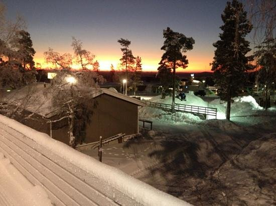 Ski-Inn PyhaSuites Apartments: view this morning 8:30 am with -19 degrees!
