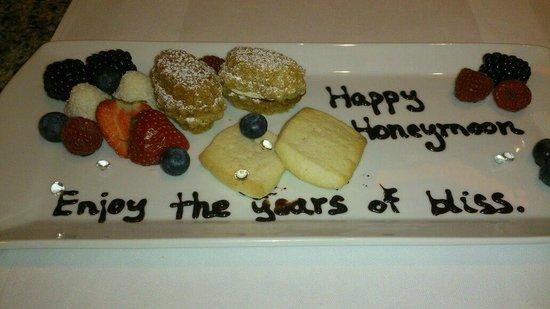 The Grand Mark Prague: Our complimentary, congratulatory honeymoon dessert.