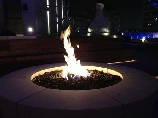 Omni Dallas Hotel: firepit at pool